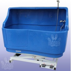 Pupkus Paw Print Bath with Splashback- Ocean Blue