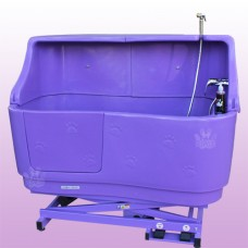 Pupkus Paw Print Bath with Splashback- Purple