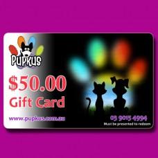 Pupkus $50.00 Gift Card