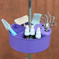 Grooming Table Accessory Caddy - Purple