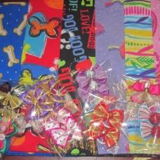 Bandana Bow Pack 6 Lrg +10 bows